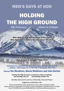 "Men's breakfast followed by Men's Day - ""Holding the High Ground"""
